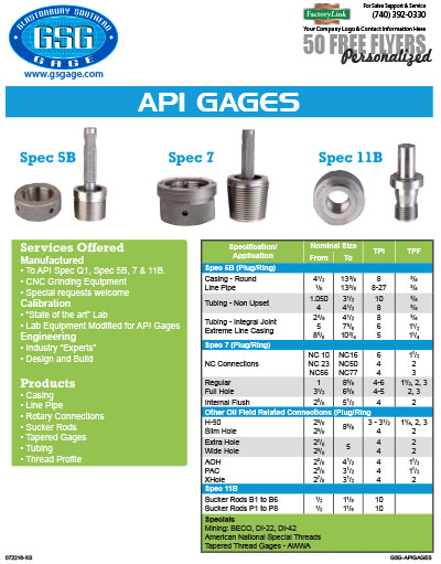 API Gages Flyer