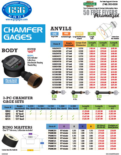 Chamfer Gages Flyer