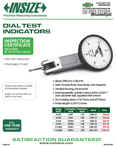 Dial Test Indicators Flyer